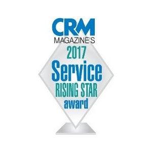 Награда CRM Magazine 2017 Service Rising Star