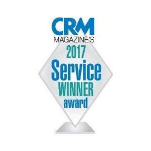 CRMマガジンの2017年「サービス最優秀賞」